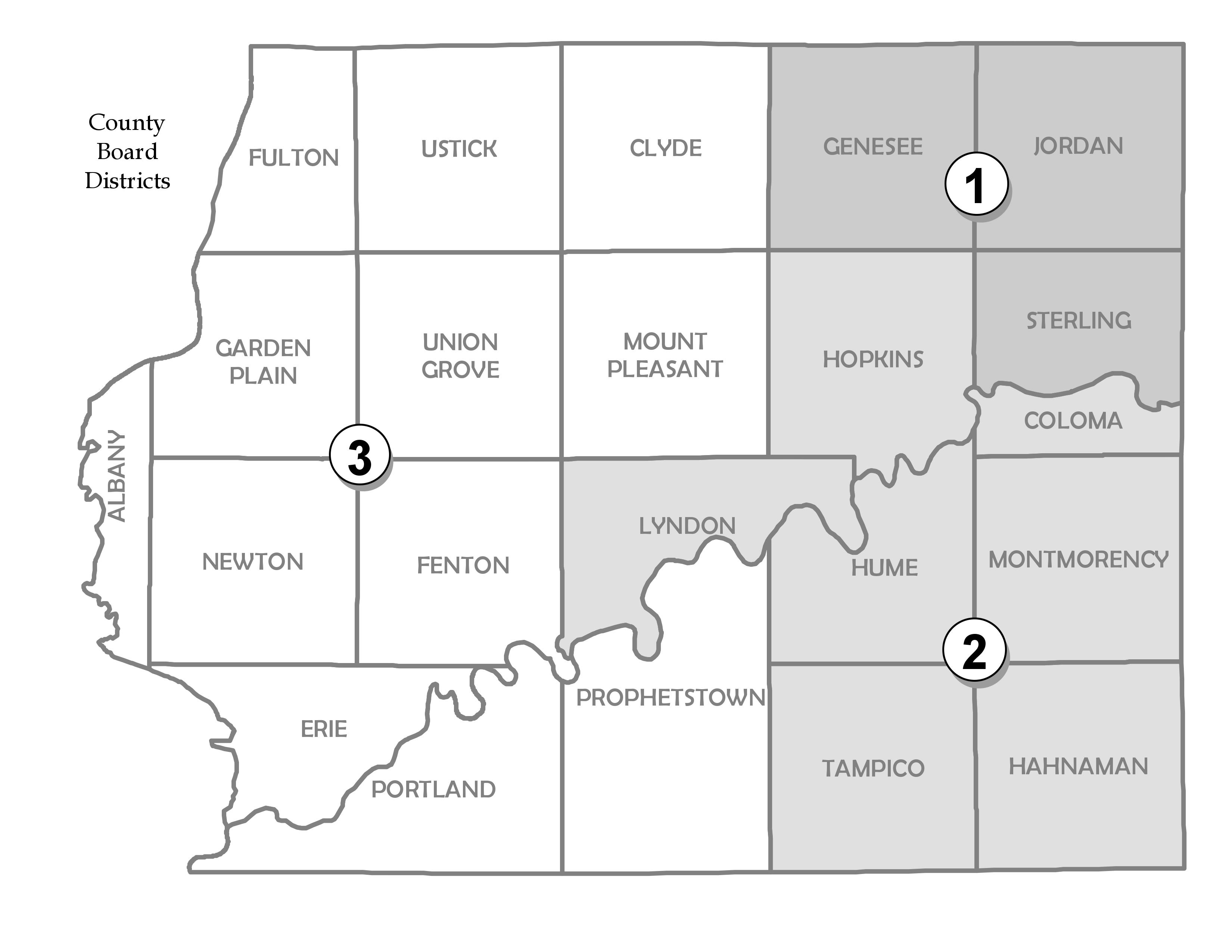 County Board Districts