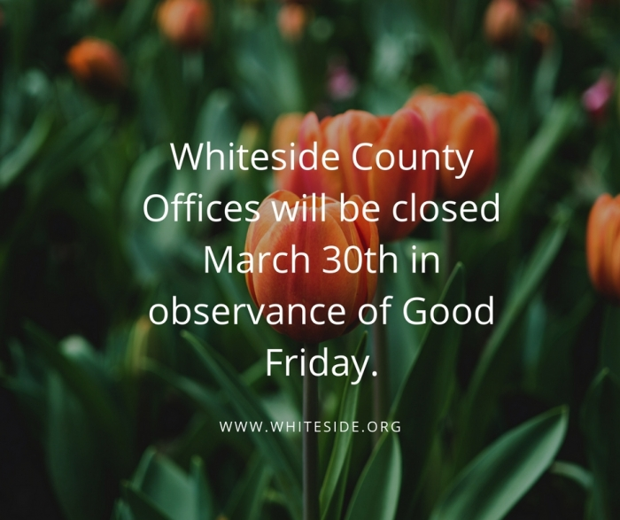 County Offices Closed Friday, March 30th
