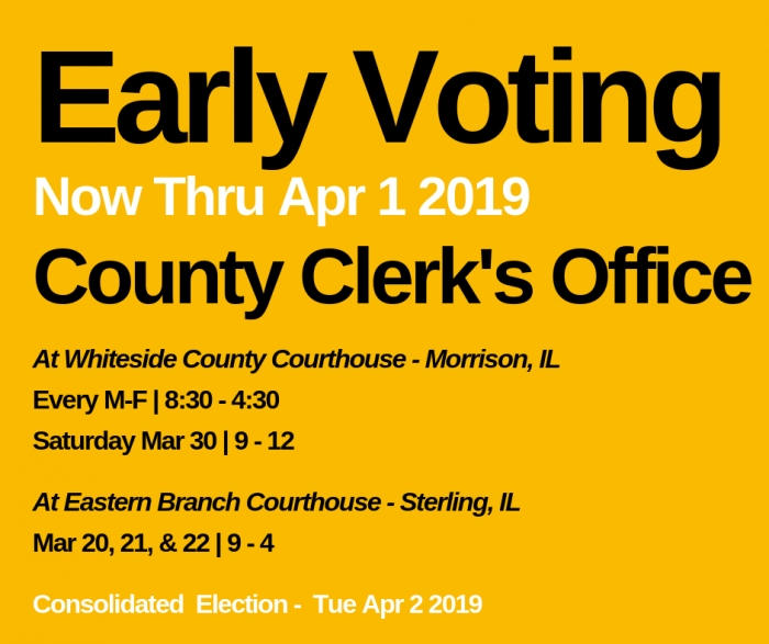 Early Voting Available Through April 1, 2019