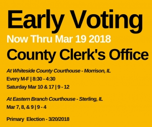 Early Voting for March 20th Primary Election
